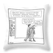 A Couple Badmouths Their Therapist Throw Pillow