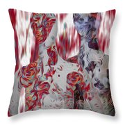 A Couple Throw Pillow by Jack Zulli