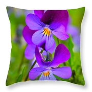 A Couple Of Pansies Throw Pillow