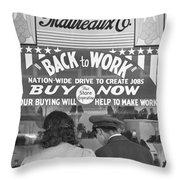 A Couple Shopping Throw Pillow
