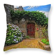 A Courtyard In Brittany France Throw Pillow