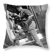 A Cowboy And His Truck Throw Pillow