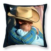 A Cowboy's Love Throw Pillow