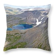 A Crater Lake From The Seaplane In Katmai National Preserve-alaska  Throw Pillow