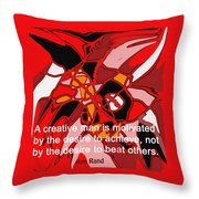 A Creative Man Throw Pillow