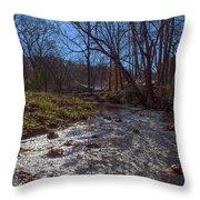 A Creek Runs Though It Throw Pillow