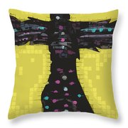 A Cross To Bare Throw Pillow