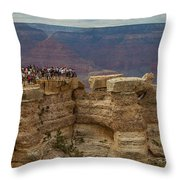 A Crowd And A Canyon Throw Pillow