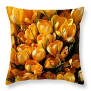 A Crowd Of Crocuses Throw Pillow
