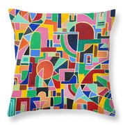 A Casino In Las Vegas Throw Pillow