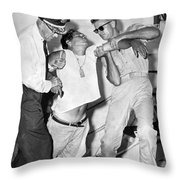 A Cuban Refugee Collapses Throw Pillow