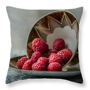 A Cupfull Of Raspberries Throw Pillow