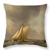 A Cutter In A Strong Breeze Throw Pillow