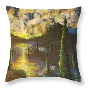 A Cypress Congregation Throw Pillow