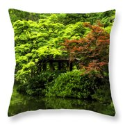 A Dab Of Color Throw Pillow