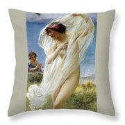 A Dance By The Sea Throw Pillow