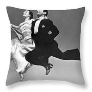 A Dance Team Does The Rhumba Throw Pillow