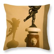 A Dancing Cupid In The Palazzo Vecchio Throw Pillow