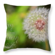 A Dandy Dandelion With Message Throw Pillow