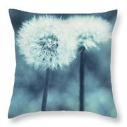 A Dandy In Blue Throw Pillow