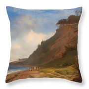 A Danish Coast Throw Pillow