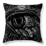 A Dark Ray Of Hope Throw Pillow