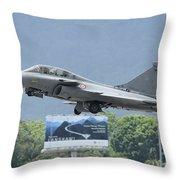 A Dassault Rafale Of The French Air Throw Pillow