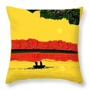 A Date At Sunset Throw Pillow