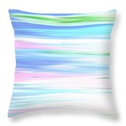 A Day At The Beach Pastels Throw Pillow