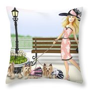 A Day At The Derby Throw Pillow