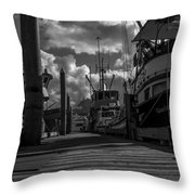 A Day At The Dock Throw Pillow