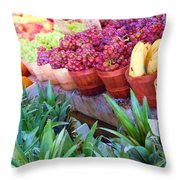 A Day At The Market #15 Throw Pillow
