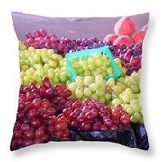 A Day At The Market #18 Throw Pillow