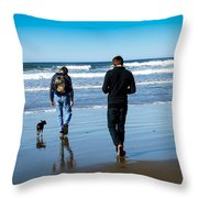 A Day At The Ocean Throw Pillow