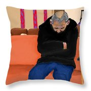 A Day At The Va Clinic Throw Pillow