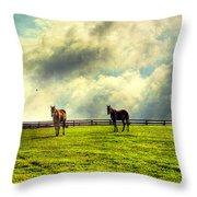 A Day In Kentucky Throw Pillow by Darren Fisher