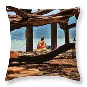 a day in the Florida Keys Throw Pillow