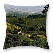 A Day In Tuscany Throw Pillow
