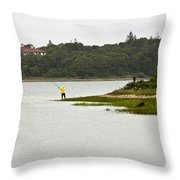 A Day Of Fishing 2 Throw Pillow