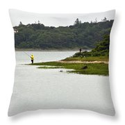 A Day Of Fishing Throw Pillow