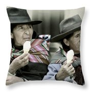 A Day Off In Tarabuco- Bolivia Throw Pillow