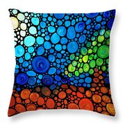 A Day To Remember - Mosaic Landscape By Sharon Cummings Throw Pillow