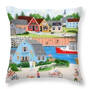 A Day With Dad Throw Pillow