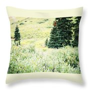 A Deer Hiding In The Tundra Throw Pillow