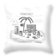 A Desert Island Full Of Outdated And Obsolete Throw Pillow