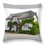 A Devonshire Cottage Throw Pillow