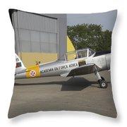 A Dhc-1 Chipmunk Trainer Aircraft Throw Pillow