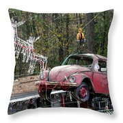 A Difference Sleigh  Throw Pillow