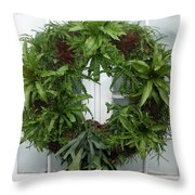 A Different Christmas Wreath Throw Pillow