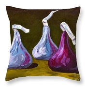 A Different Kind Of Kiss Throw Pillow